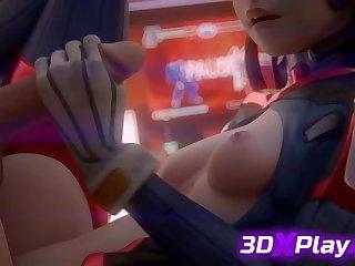 Dishevelled HANDJOB BY 3D DVA