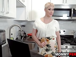 Mature milf finds stepmom porn at one's disposal son'_s laptop
