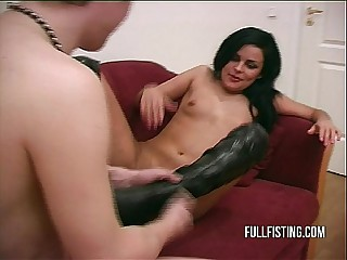 Hard And Deep Pussy Fisting With respect to A Tight-fisted Pussy