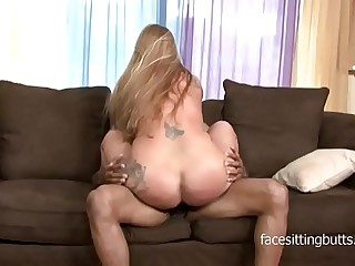 Naive blonde MILF can absolutely serve a big fat black blarney