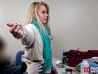 XXXCUSTOMS  Functionary Blackmails Secretive Blonde Teen