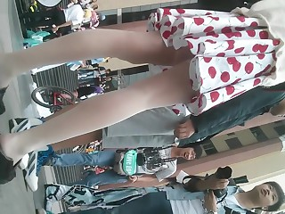 Along to Chinese hot teen in colourless stockings got upskirted