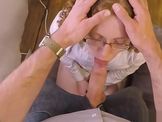 Young Professional Redhead Face Fucked and Tamed