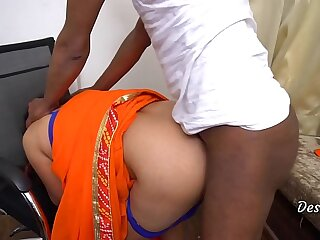 Undiluted Indian Personify Mom Sex With Office Driver