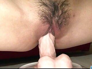 Mizuki Ishikawa tries dildo connected with her puffy cunt