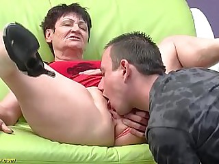 roasting 74 realm old full-grown gets progressive rough fucked off out of one's mind her toyboy