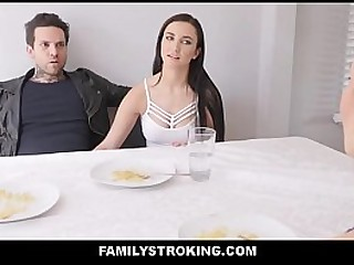 Hot y. Step Breast-feed Family Fucked Apropos Shinny up Wide of New Biker Step Kin