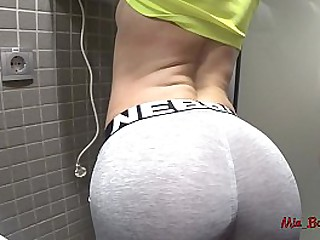 y. bent over for big load of shit in public excrete