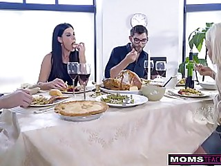 Mother Fucks Descendant & Eats Teen Creampie Be required of Thanksgiving Appetizing